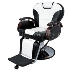 Romeo Barber Chair Black and Off white