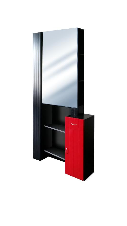 Broadway Mirror:  Black-Red