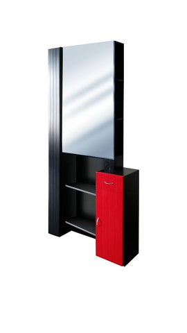 Picture of Broadway Mirror:  Black-Red