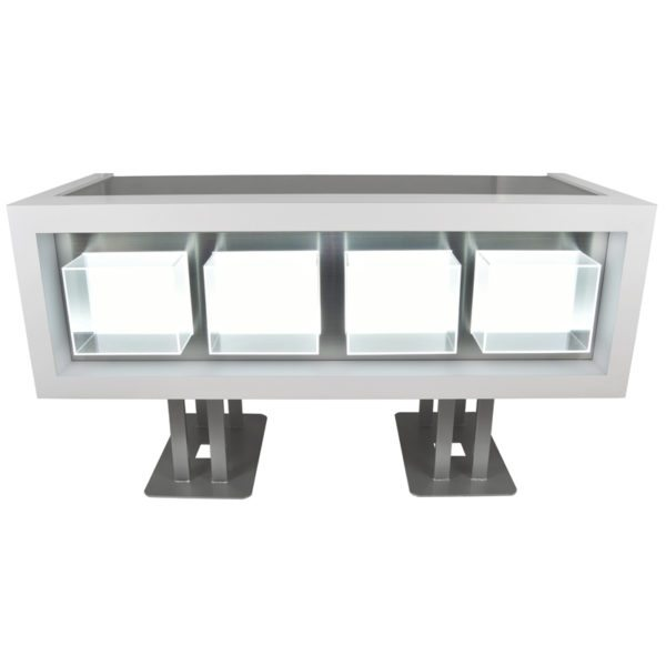 Clary Illuminated Standing Reception Desk by Veeco