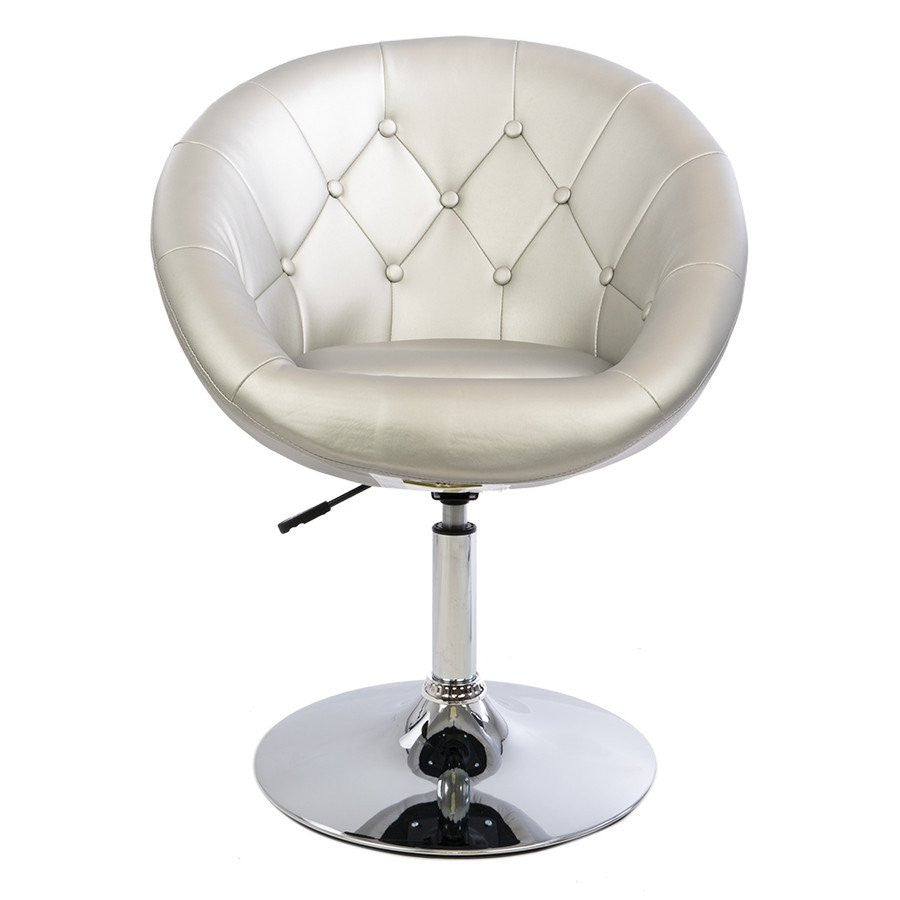 Vanity Mod Make UP Chair in Silver – Zurich Beauty