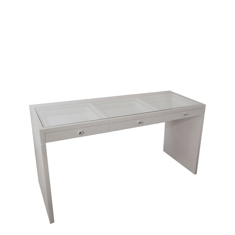 Vanity Hollywood Table in Silver