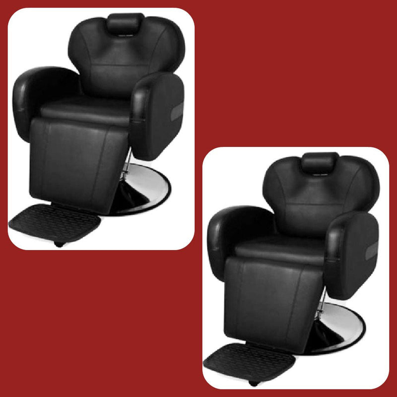 2 Chair Barber Chair Package - Stallion Black