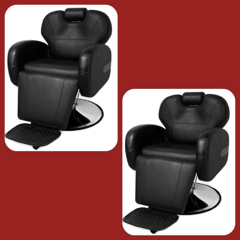 Picture of 2 Chair Barber Chair Package - Stallion Black