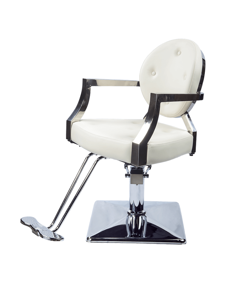 Ariel Salon Chair - White