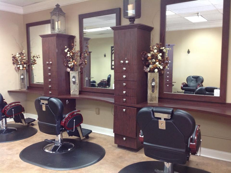4 Chair Romeo Barber Shop Package - Black