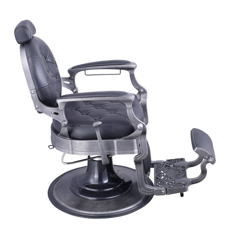 Duke Barber chair in Black with brushed finish