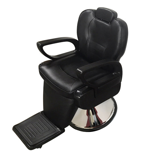 Houston Black barber chair (ASSAMBLED)