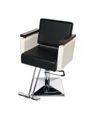 Euro Styling Chair - Black / Off White