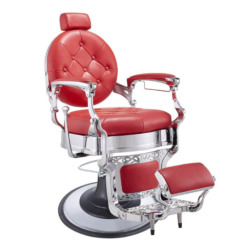 Duke Barber chair in Red