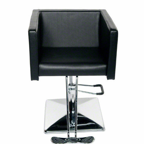 cube styling chair all black