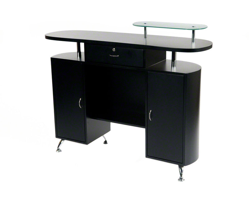 Rising Sun Salon Reception Desk - Black