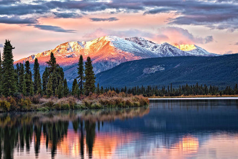 """Still Morning"" Moose Lake, Yukon Territory"