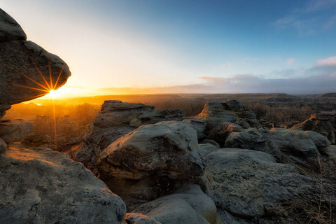 """First LIght"", Writing-on-stone Provincial Park, Alberta"