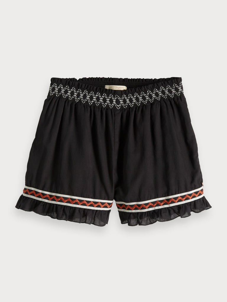 SCOTCH R'BELLE - Tape-Shorts mit Stickerei