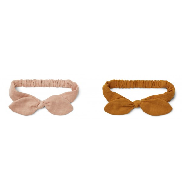 LIEWOOD - Stirnband Haarband mit Masche Rose Mustard Mix 2er Set