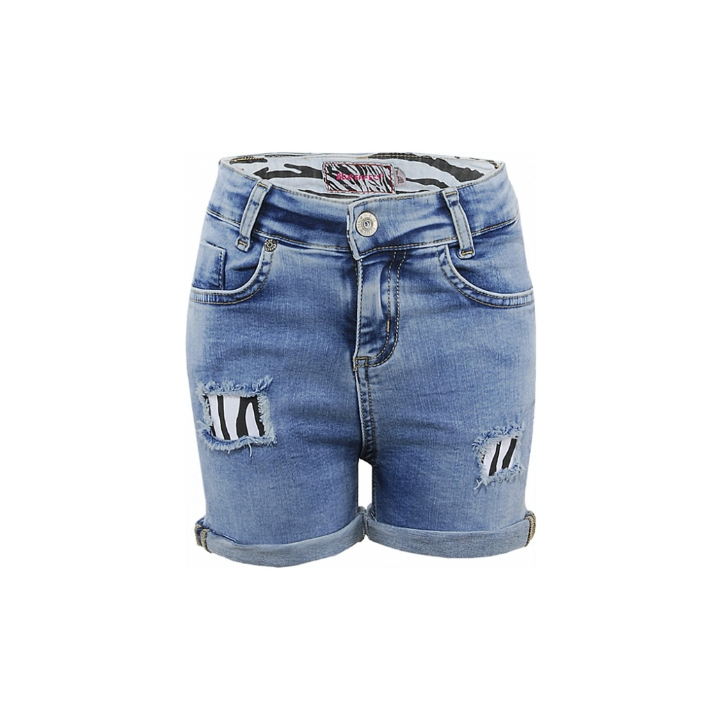BLUE EFFECT - Girls Jeans Skinny Zebra Shorts