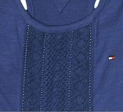 TOMMY HILFIGER - Kleid Ame Girls Knit Dress navy
