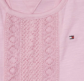 TOMMY HILFIGER - Kleid Ame Girls Knit Dress pink
