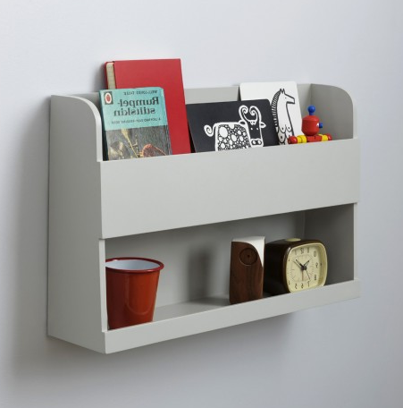 Tidy Books - Hochbett Wandregal hellgrau