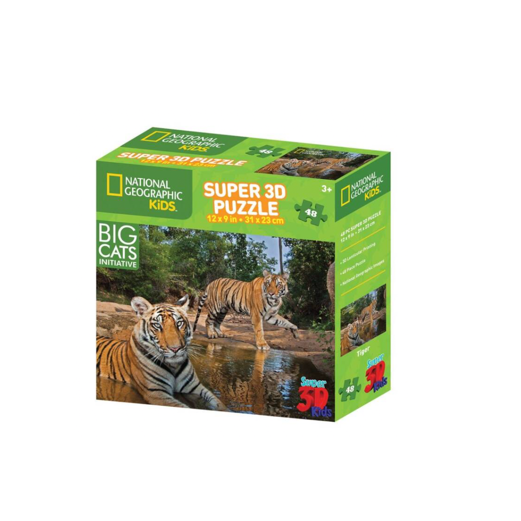 National Geographic - 3D Puzzle Tiger 48 Teile