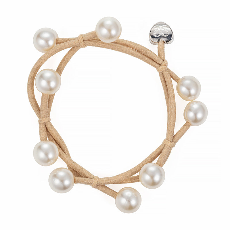 byEloise - Bangle Band Pearl Cluster - Sand