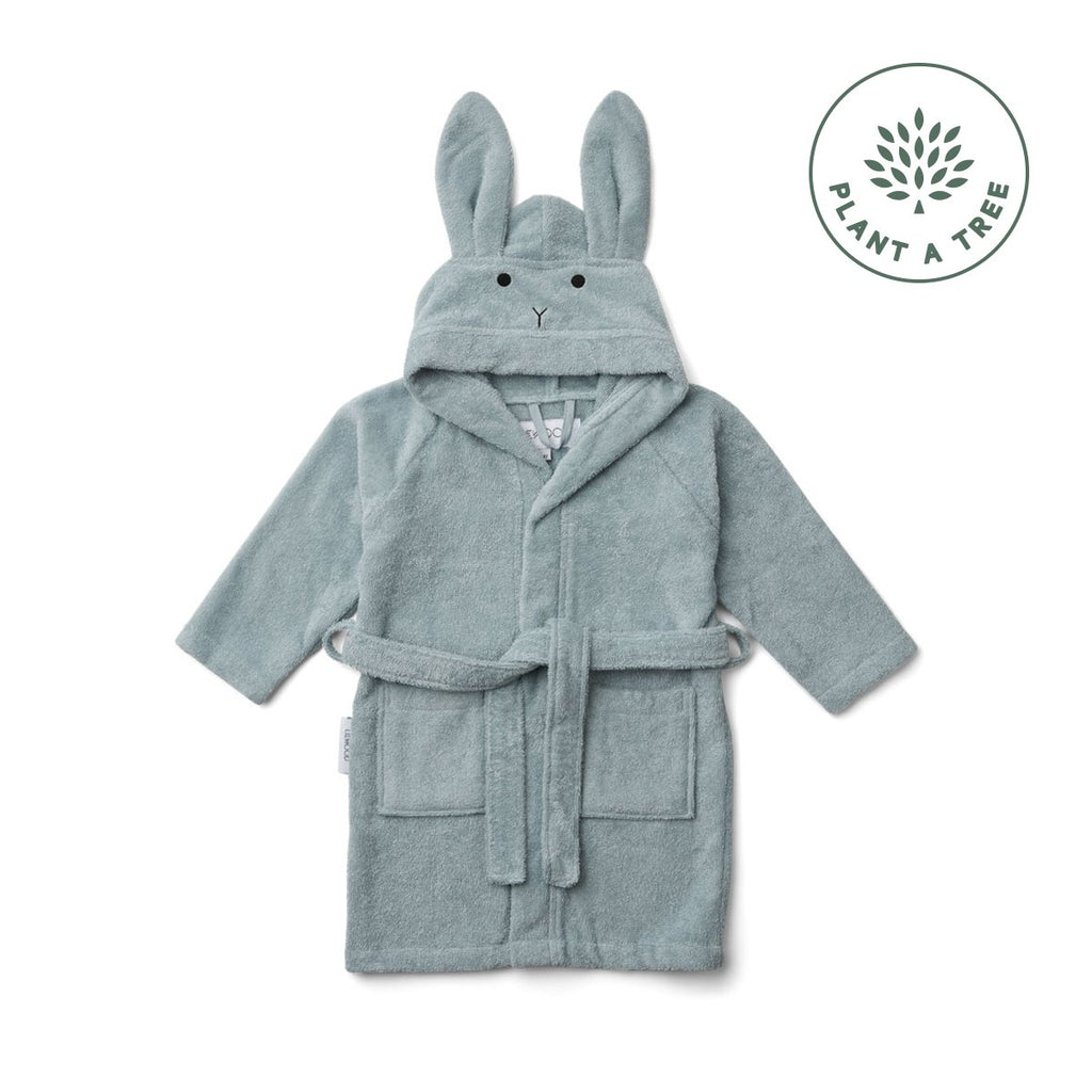 LIEWOOD - Bademantel Lily Hase Sea Blue