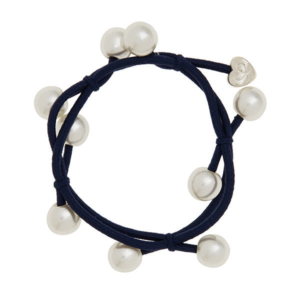 byEloise - Bangle Band Pearl Cluster - Black