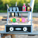 MAMAMEMO - Grill Barbecue Set aus Holz