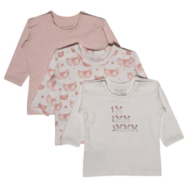 HUST & CLAIRE - Langarm T-Shirt einzeln in rose, rose/offwhite, offwhite