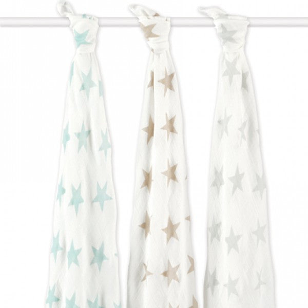 aden+anais - swaddles silky soft bambus milky way 3er Set