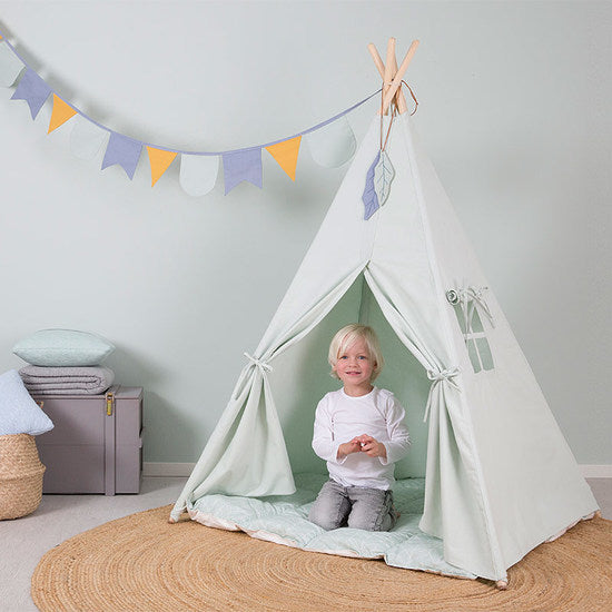 LITTLE DUTCH - Haus Tipi Zelt Mint