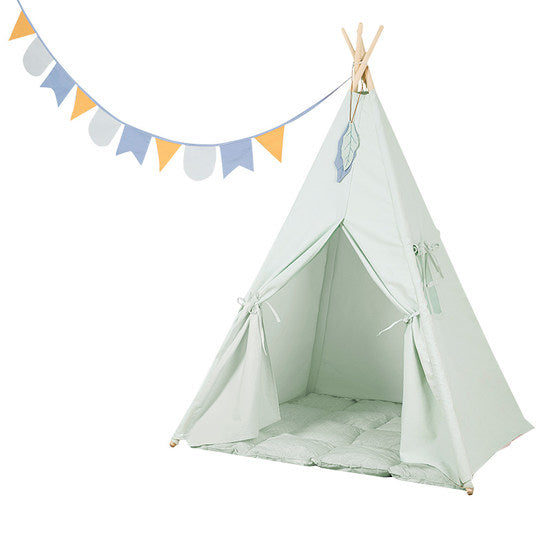 LITTLE DUTCH - Haus Tipi Zelt Mint LD4511