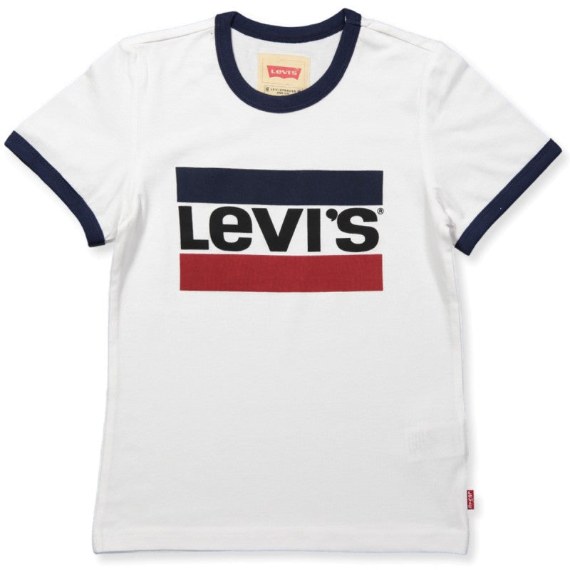 LEVIS - Boy T-Shirt navy red