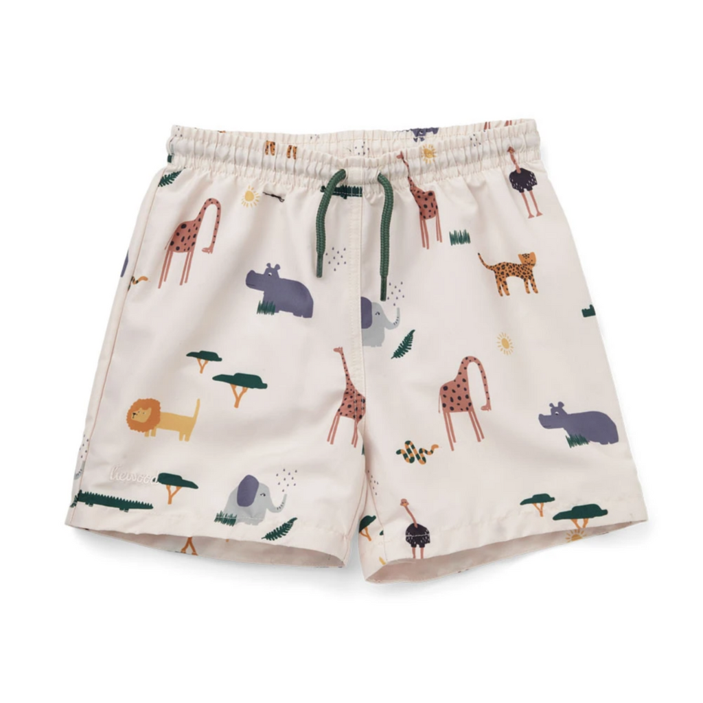 liewood duke badeshorts lw14118 safari sandy mix