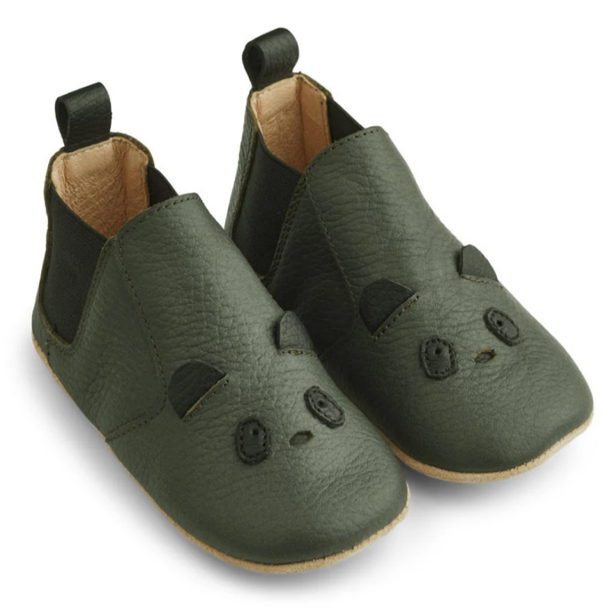 liewood leather slippers krabbelschuhe lederfinkli lw13037