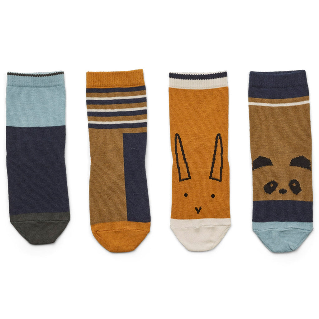 LIEWOOD - Socken Silas Olive Green Multi Mix 4er Set
