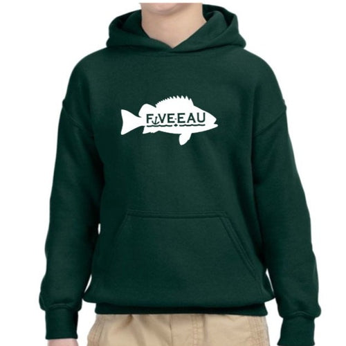 Five-Eau Youth Lucky Fishing Sweater in Forest Green