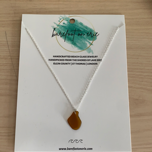 Barefoot on Erie - Beach Glass Necklace