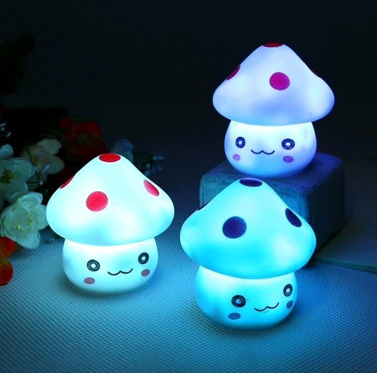 Cute LED Miniature Mushroom Night Lights