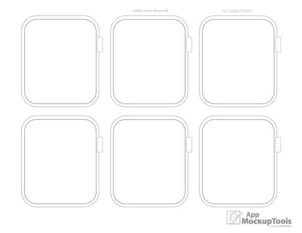8.5X11/A4 Apple Watch Printable PDF Sketchpad