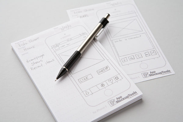 4X6 iPhone Sketchpad for App Mockups.