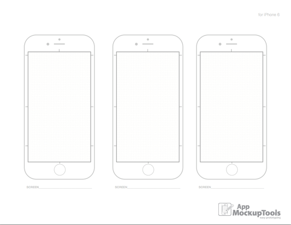 8.5X11/A4 iPhone 6 Printable PDF Sketchpad