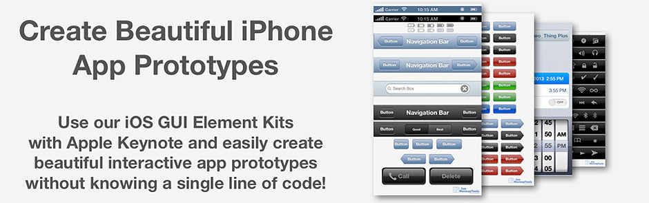 App Mockup Tools Easy iPhone AppPrototyping