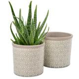 Glasert potte (glazed pot) Tuscany grey
