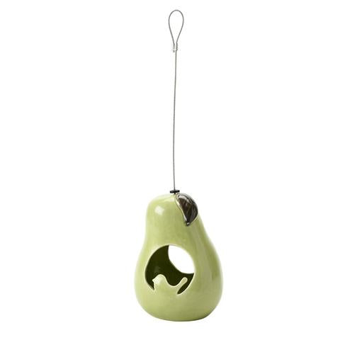SC Fuglemat holder - glasert pære (Bird fat ball feeder - ceramic pear)