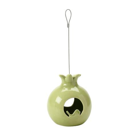 SC Fuglemat holder - glasert granateple (Bird fat ball feeder - ceramic pomegranate)