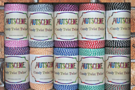 100m Candy Twist Bakers Twine Cotton Spools 2/3 ply (2/3-trådet)