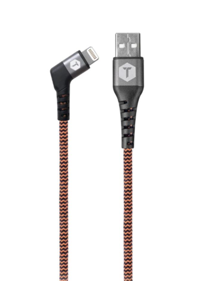 Braided 6 Ft. Cable with 90° Lightning to USB