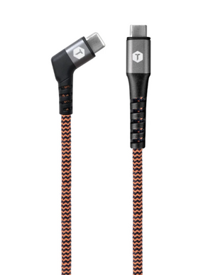 Braided 6 Ft. USB-C to USB-C Cable with Angled Tip